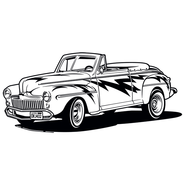 Stickers muraux: Grease, Ford Convertible 1948