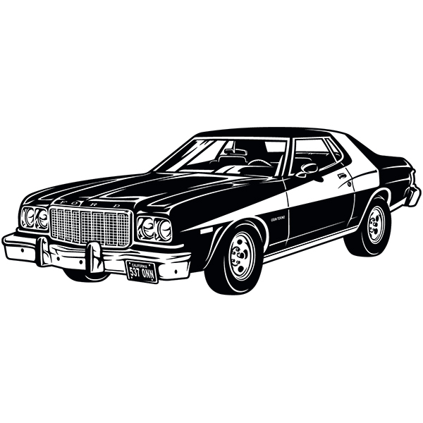 Stickers muraux: Ford Torino Starsky et Hutch