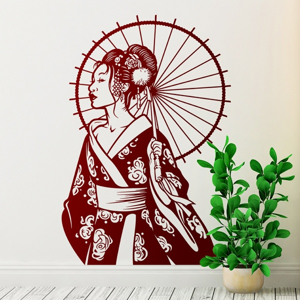Stickers muraux: Geisha