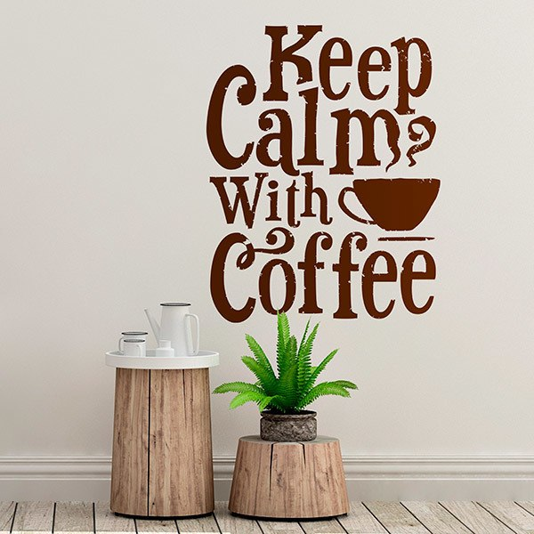 Stickers muraux: Keep Calm with Coffee