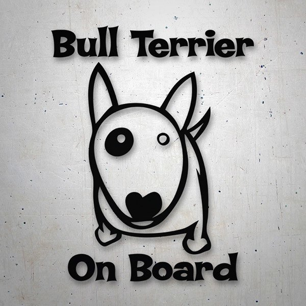 Autocollants: Bull Terrier On Board