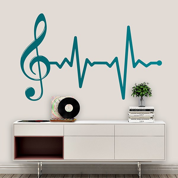 Stickers muraux: Cardiogramme musical