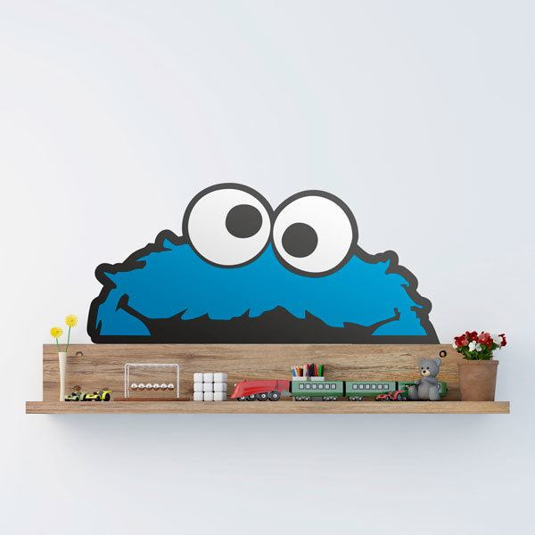 Stickers pour enfants: Monstre biscuit horizontal