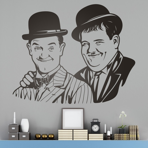 Stickers muraux: Laurel et Hardy