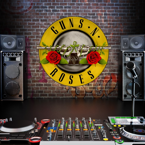 Stickers muraux: Guns n Roses Bigger