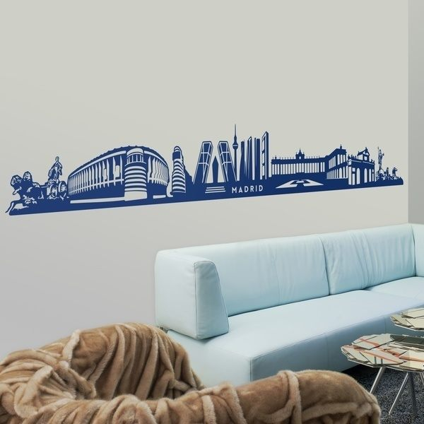 Stickers muraux: Skyline de Madrid