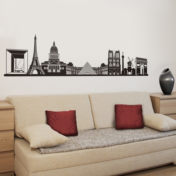 Stickers muraux: Skyline de Paris