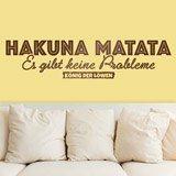 Stickers muraux: Hakuna Matata en allemand 2