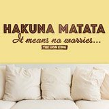Stickers muraux: Hakuna Matata en anglais 2