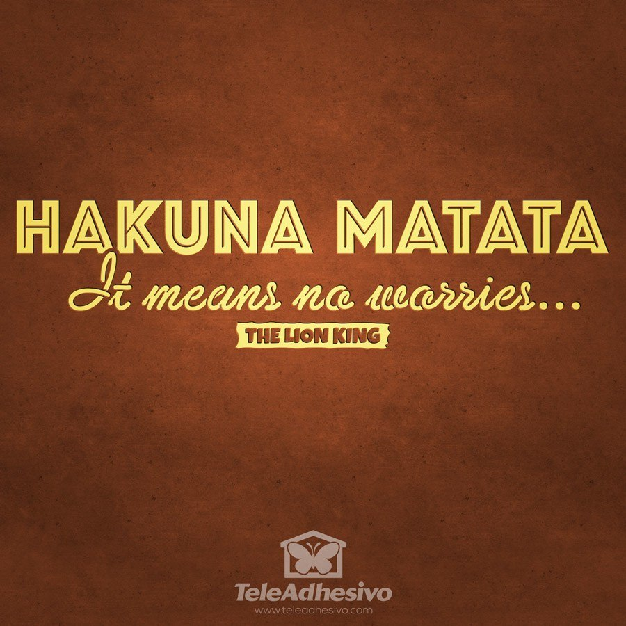 Stickers muraux: Hakuna Matata en anglais