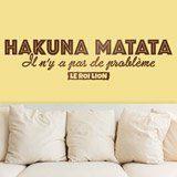 Stickers muraux: Hakuna Matata en français 2
