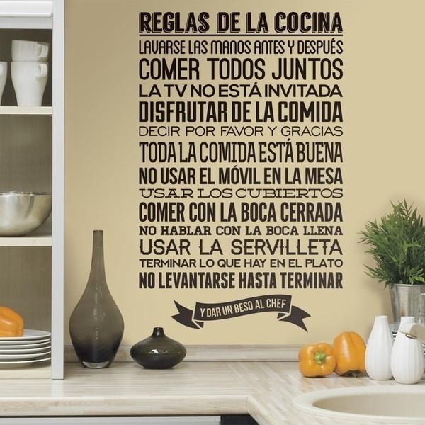 Sticker muraux pas cher de th mes de cuisine - La cuisine en espagnol ...