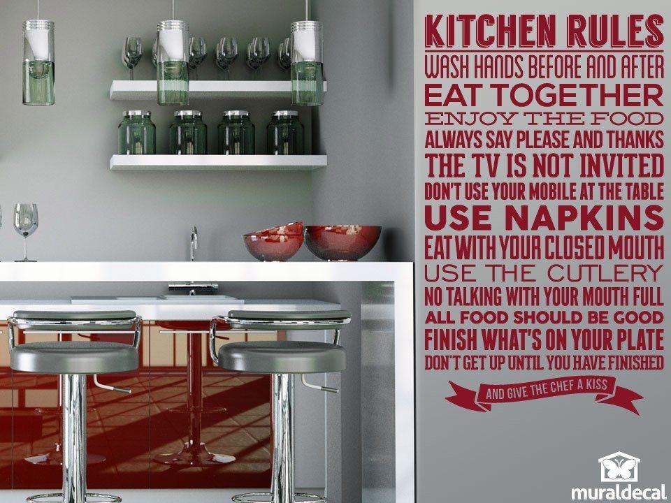 sticker muraux pour cuisine r gles de la cuisine. Black Bedroom Furniture Sets. Home Design Ideas