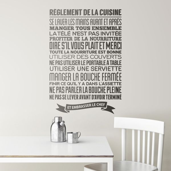 stickers muraux de citations c l bres en fran ais. Black Bedroom Furniture Sets. Home Design Ideas