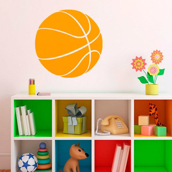 Stickers muraux: Ballon de Basket