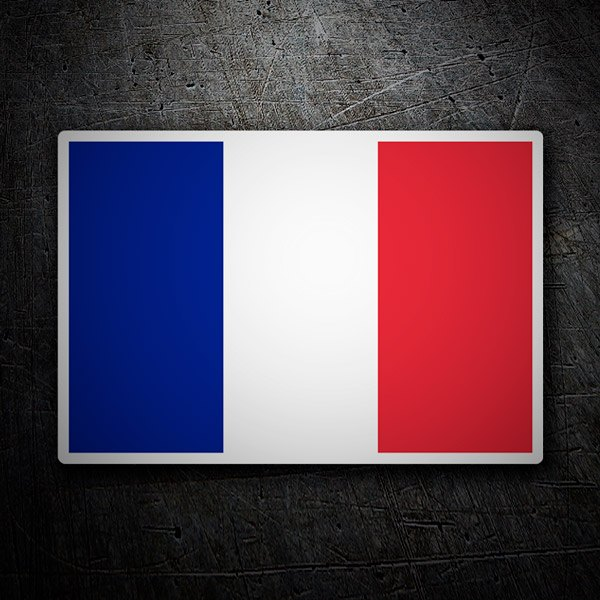 Autocollant Drapeau De France Sans Bouclier Webstickersmuraux Com