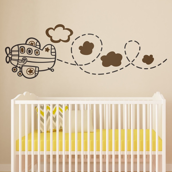 Stickers pour enfants: Avion multicolore