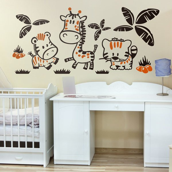 Stickers pour enfants: zoo multicolor
