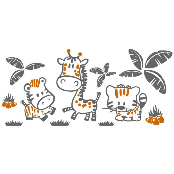 Stickers pour enfants: Animaux de la jungle multicolores