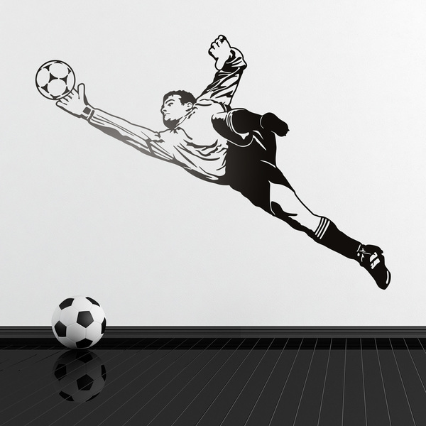 Stickers muraux: Football Gardien