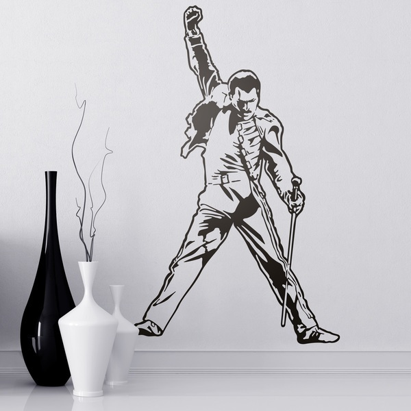 Stickers muraux: Freddie Mercury