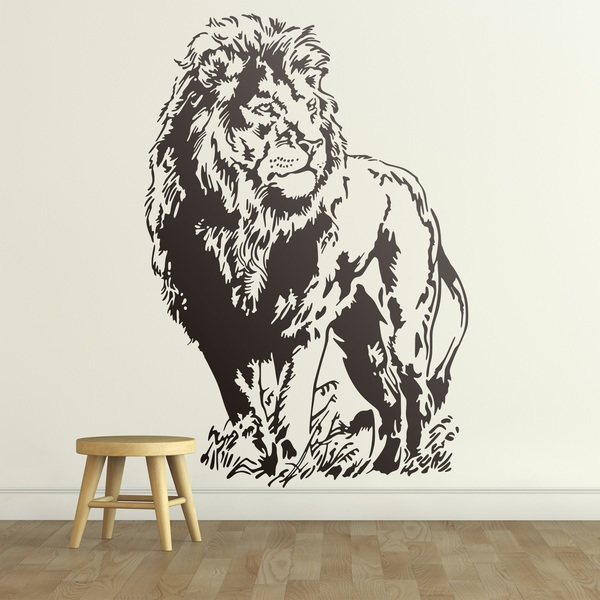 Stickers muraux: Un lion