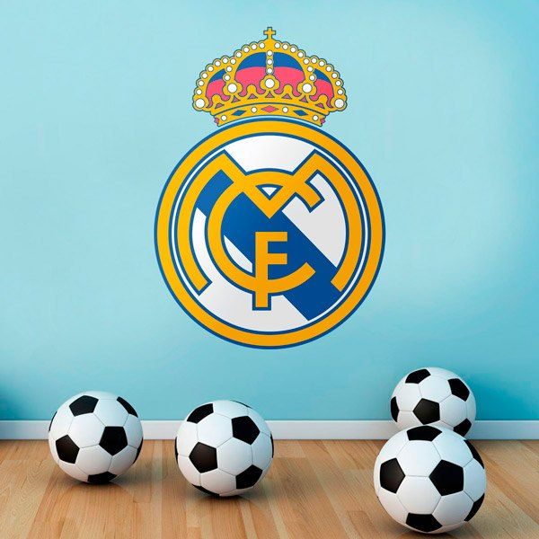 Stickers muraux: Écusson Real Madrid couleur
