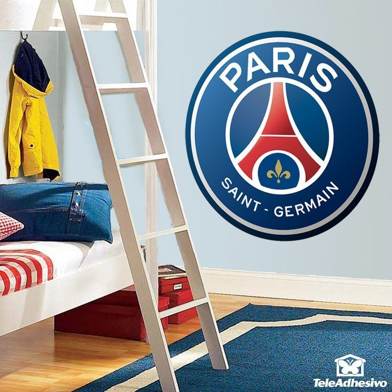 Stickers muraux: Écusson Paris Saint-Germain PSG couleur