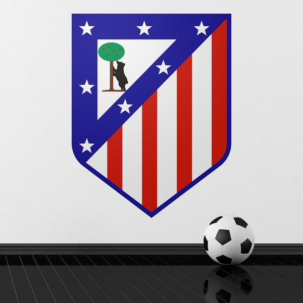 Stickers muraux: Écusson Atlético de Madrid couleur