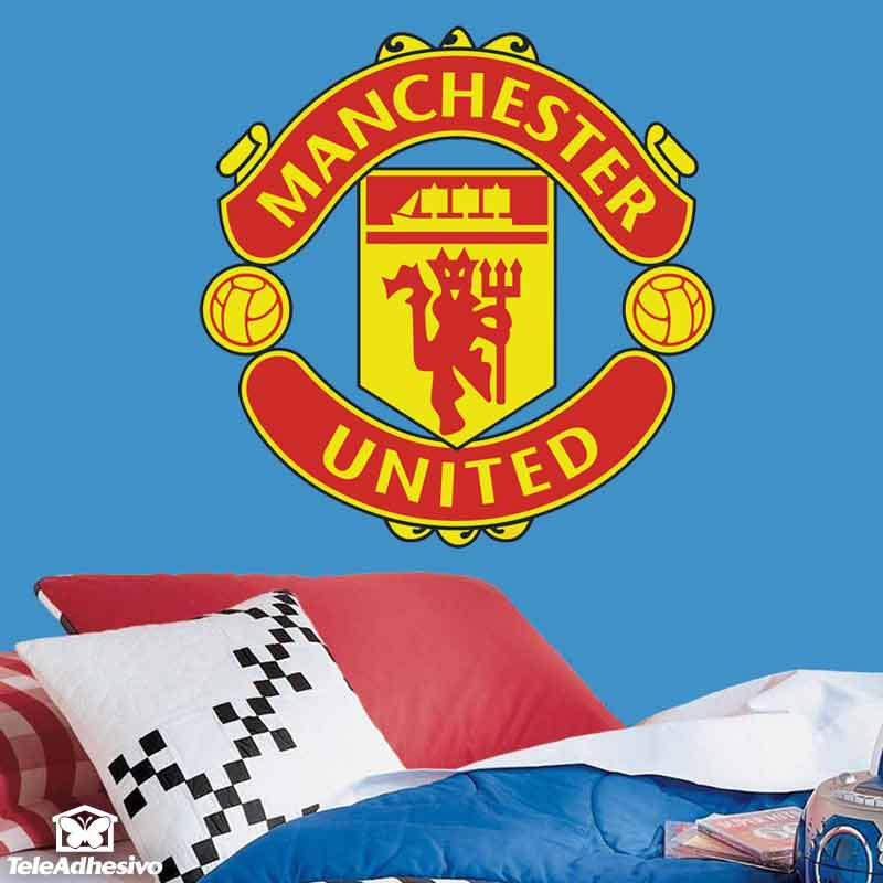 Stickers muraux: Écusson Manchester United  couleur