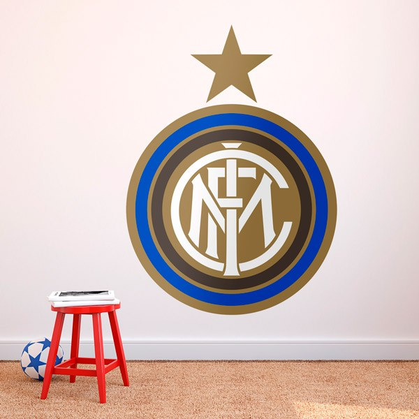 Stickers muraux: Écusson FC Internazionale Milan couleur