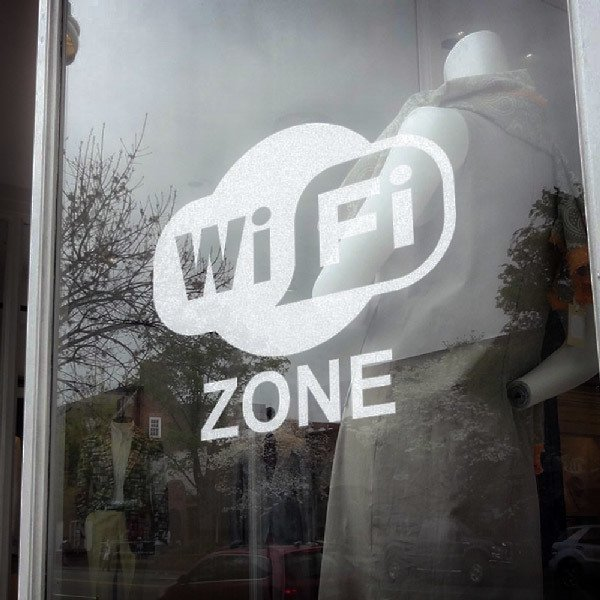 Stickers muraux: Wifi Zone
