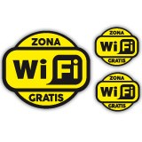Stickers muraux: Zona Wifi Gratis 2 - Pack 3 autocollants 3