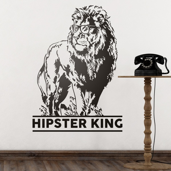 Stickers muraux: Hipster King