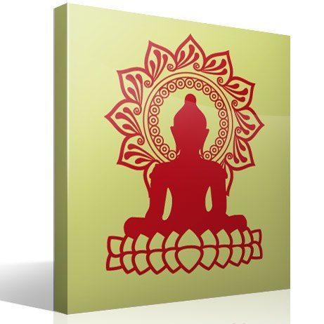Sticker mural Bouddha et la fleur de lotus   WebStickersMuraux.com