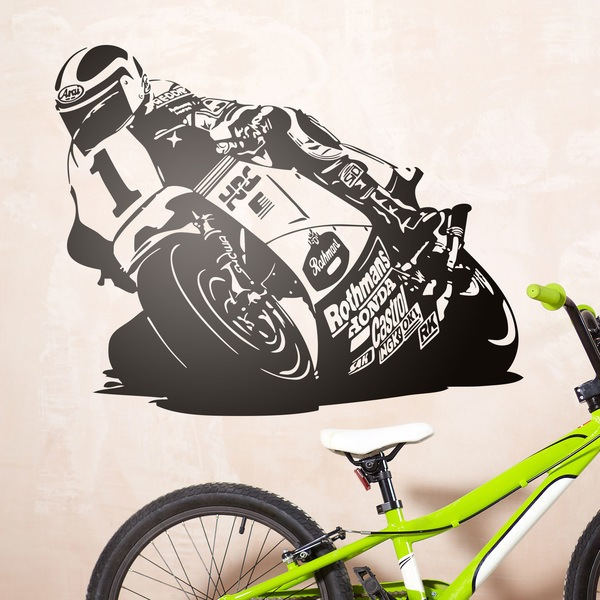 Stickers muraux: Racing Moto