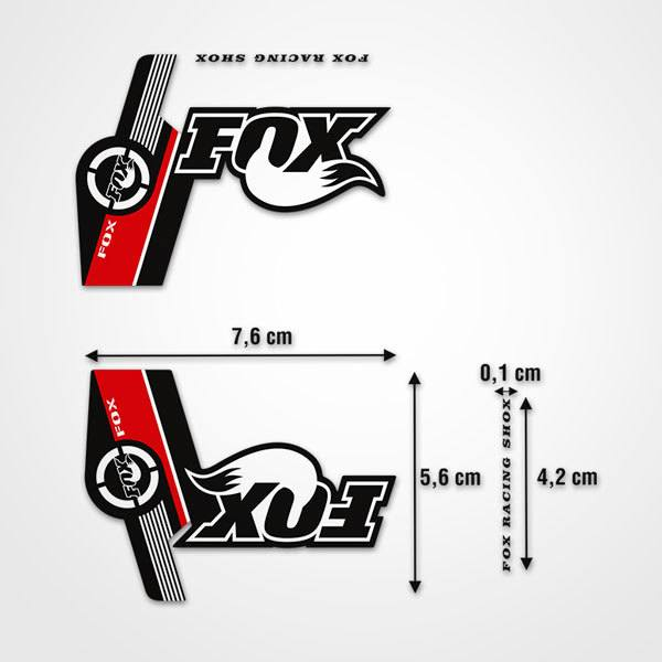 Autocollants: Stickers Fox Racing Shox VTT Velo fourche