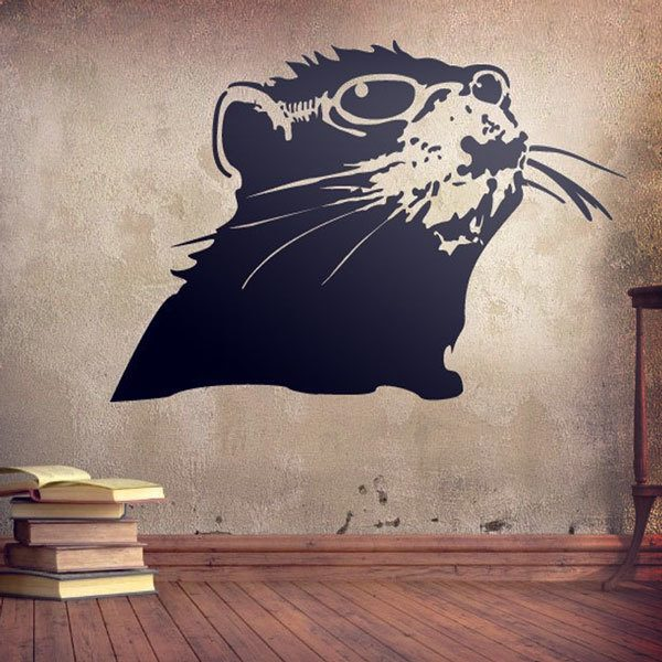 Stickers muraux: Banksy rat
