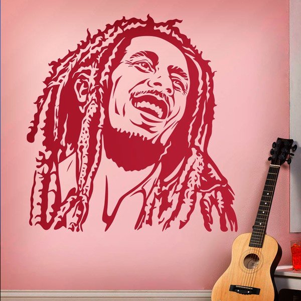 Stickers muraux: Bob Marley sourire