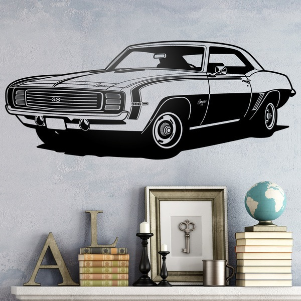sticker mural chevrolet camaro 1969 ss. Black Bedroom Furniture Sets. Home Design Ideas