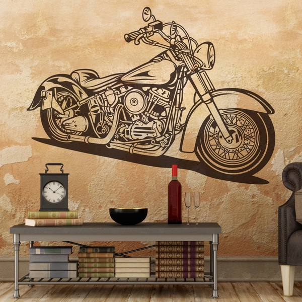 Stickers muraux: Harley Davidson Softail Classic