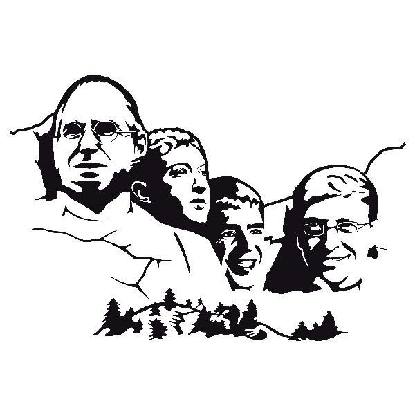 Stickers muraux: Mont Rushmore Geek