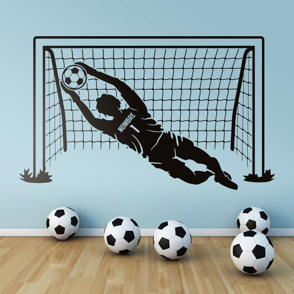 Stickers pour enfants: Gardien de but de football