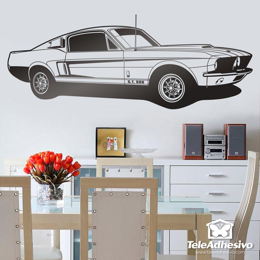 Stickers muraux: Ford Mustang Shelby GT 500