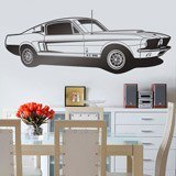 Stickers muraux: Ford Mustang Shelby GT 500 2