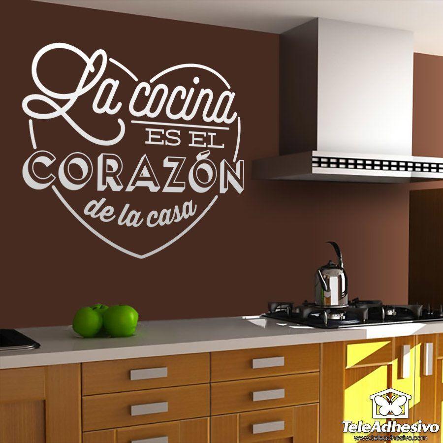 Stickers muraux: La cocina es el corazón de la casa