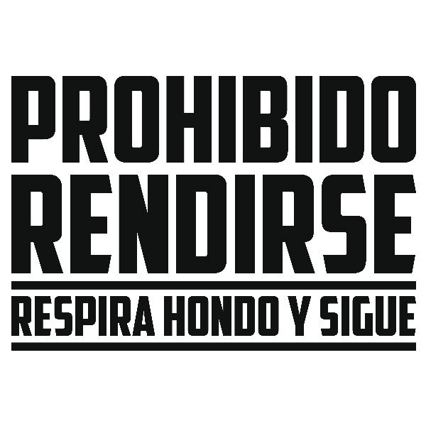 Stickers muraux: Prohibido rendirse