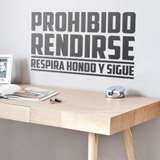 Stickers muraux: Prohibido rendirse 2