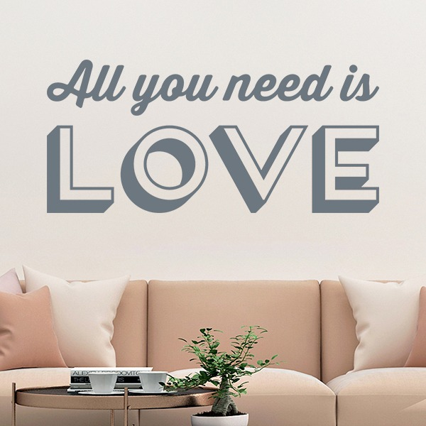 Stickers muraux: All you need is love 0