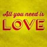 Stickers muraux: All you need is love 3